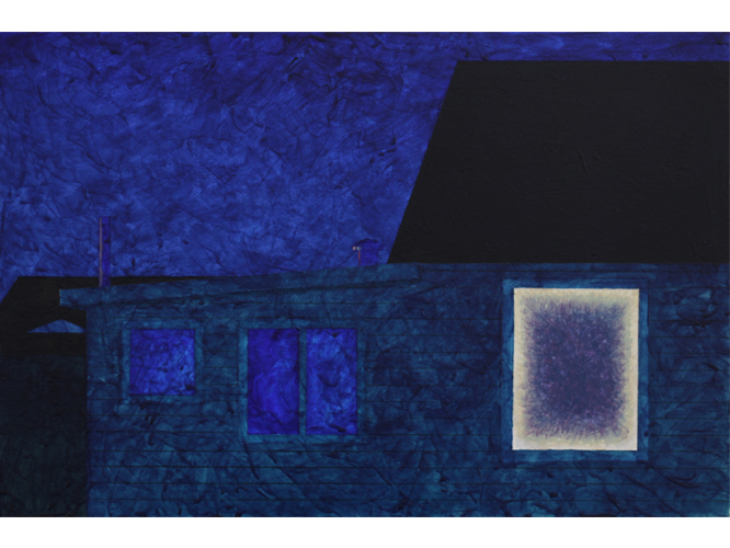 Thumb of Night Scene In Blue artwork by Melbourne artist Tom Ferson